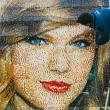 Taylor Swift, ritratto di 3 metri con 40mila mattoncini Lego FOTO 3