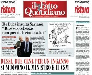 """Marco Travaglio sul Fatto Quotidiano: """"Camera di coniglio"""""""