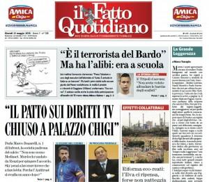 """Marco Travaglio sul Fatto Quotidiano: """"La Grande Leggerezza"""""""