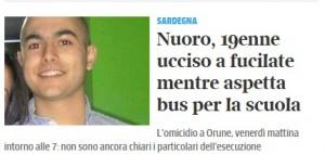 Gianluca Monni, studente ucciso con fucilata mentre aspettava bus per la scuola