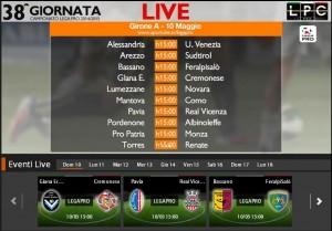 Pavia-Real Vicenza: diretta streaming Sportube. Formazioni, link e info