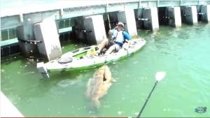 VIDEO YouTube. Pescatore prende grosso pesce e lui si vendica...con una doccia