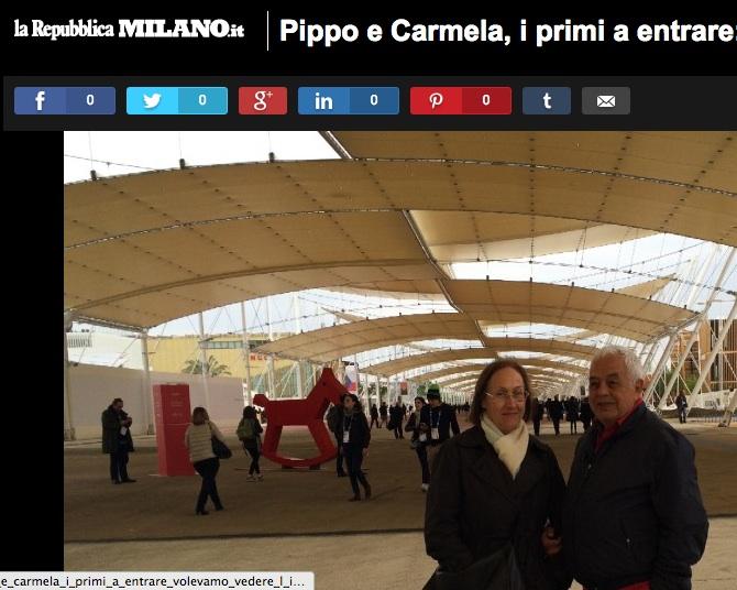 Expo 2015: Pippo Rubino, Carmela Barbera e Marilena Basciani i primi a entrare