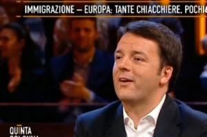 """Renzi a Del Debbio: """"Ancora pubblicità? Si merita un aumento"""" VIDEO"""
