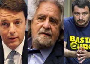 """Regionali, leader in piazza: Renzi tira dritto, Grillo """"impresentabile"""", Salvini anti-rom"""