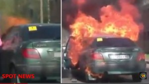Video YouTube: si accende sigaretta, l'auto esplode