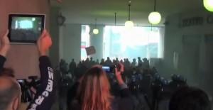 Matteo Salvini a Genova, polizia carica antagonisti