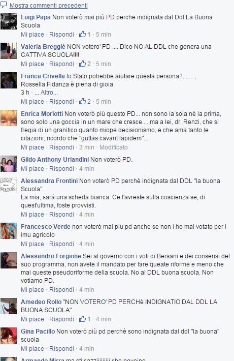 Facebook, prof contro la Buona Scuola di Renzi: pagina invasa da critiche FOTO