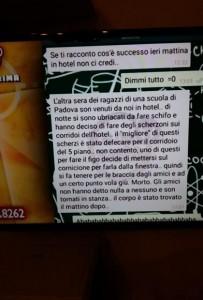 Domenico Maurantonio senza mutande e tenuto da braccia: gioco defecare da finestra?