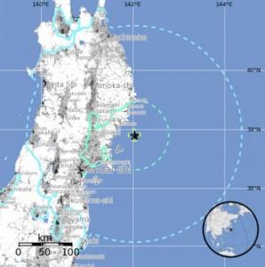 Terremoto Giappone: scossa 6.6 al largo costa Miyagi. Stessa area di Fukushima