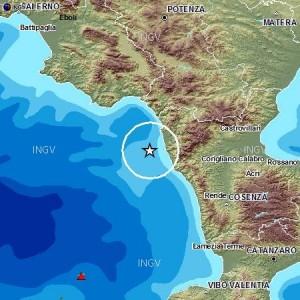 La mappa dell'epicentro dell'Ingv