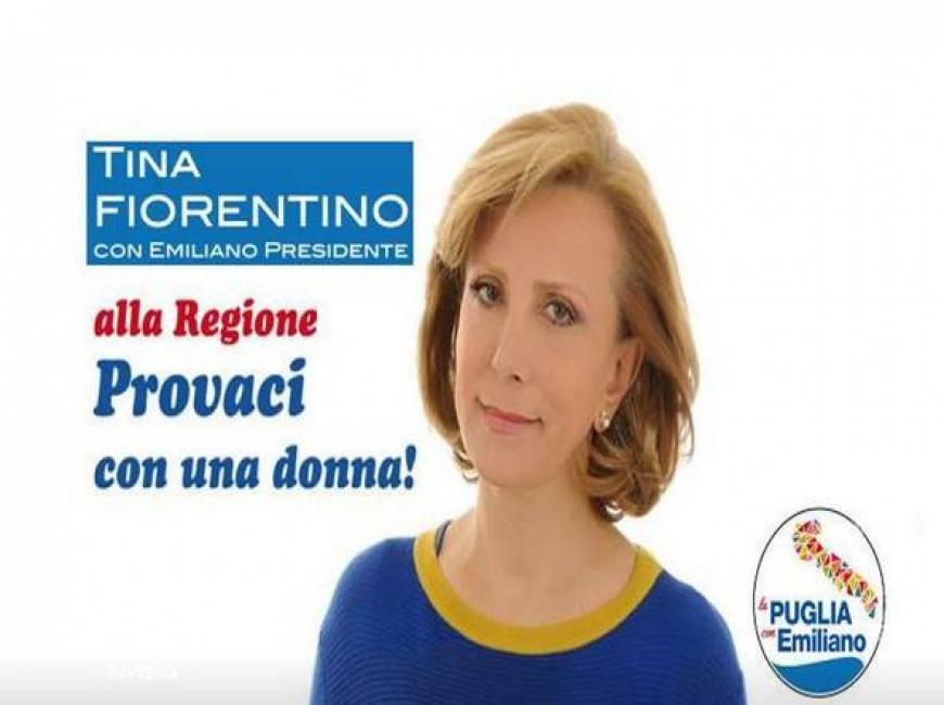 """Tina Fiorentino, slogan candidata Puglia: """"Alla Regione provaci con una donna"""""""