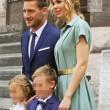 Ilary Blasi e Francesco Totti alla Comunione dei figli Cristian e Chanel092