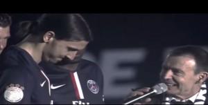 "Ibrahimovic fa pace con i francesi: al microfono urla ""Vive la France"""