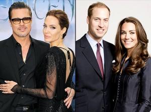 Angelina Jolie e Brad Pitt in visita da William e Kate Middleton... per un tè