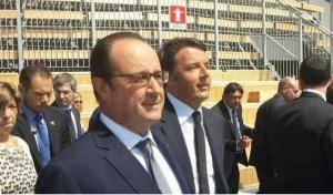 Expo, abbraccio Renzi-Hollande nella giornata dedicata alla Francia