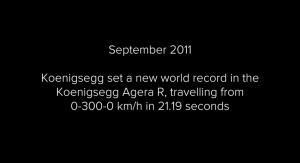 Video YouTube, Königsegg One: da 0 a 300 km/h in 18 secondi
