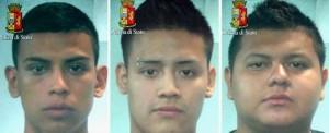 La foto segnaletica dei tre arrestati a Milano