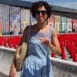 Agnese Renzi madrina a Pitti Bimbo: abito azzurro e linguaccia FOTO 2