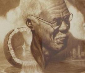 Pittura al caffè del cubano Reynier Llanes