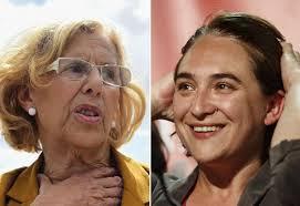 "Manuela Carmena e Ada Colau, donne sindaco ""indignade"" di Madrid e Barcellona"