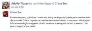 """Chioggia, gestore locale lap dance a clienti: """"Pagate debiti o nomi pubblicati"""""""