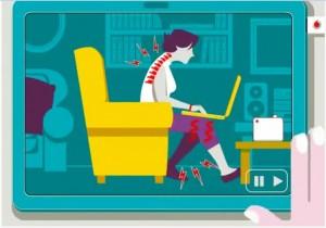Computer: la postura corretta contro il mal di schiena VIDEO