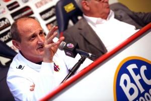L'allenatore del Bologna, Delio Rossi (foto Ansa)