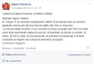 "Matteo Salvini: ""Dijana Pavlovic mi paragona a Hitler su caso rom? La querelo"""