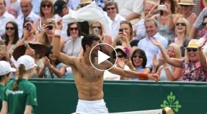 VIDEO YouTube - Djokovic-Gasquet, spogliarello in campo per le tifose
