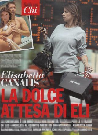 Elisabetta Canalis incinta, la pancia ora si vede: FOTO