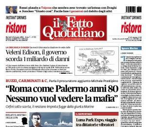 """Marco Travaglio sul Fatto Quotidiano: """"Ignaro Marino"""""""