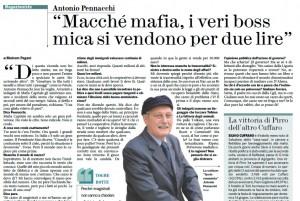 """Antonio Pennacchi: """"Macché mafia, i veri boss mica si vendono per due lire"""""""