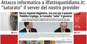 """IlFatto.it, attacco informatico: """"Nostro server annegato per contenuti sgraditi"""""""
