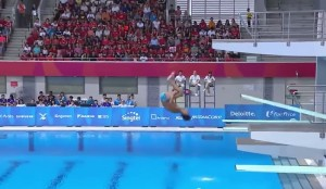 il tuffo disastroso da zero punti dei 2 atleti filippini