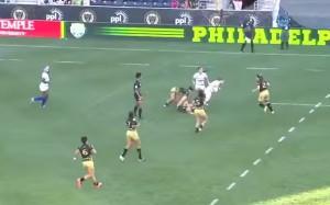 VIDEO YouTube - Georgia Page si rompe naso ma continua partita rugby