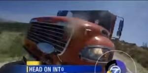 VIDEO YouTube. Moto contro tir: violento incidente ripreso da GoPro