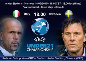 Italia-Svezia (foto Ansa)