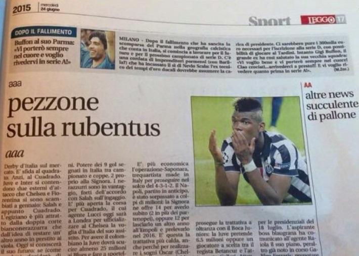 """Leggo, """"rubentus"""" sul giornale: bozza pubblicata per errore"""