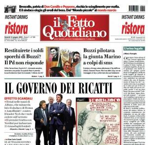 """Marco Travaglio sul Fatto Quotidiano: """"L'orina legale"""""""
