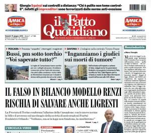 """Marco Travaglio sul Fatto Quotidiano: """"Renzindustria"""""""