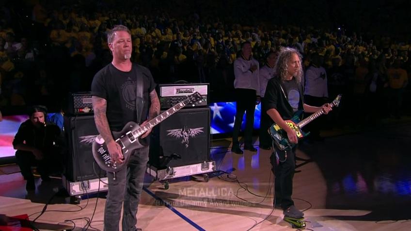 Video YouTube: Metallica eseguono inno Usa prima di Golden State-Cleveland