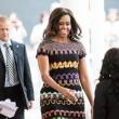 Michelle Obama all'Expo visita il padiglione Italia: abito Missoni FOTO