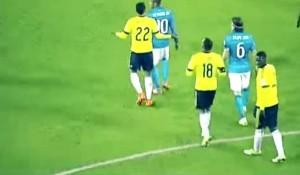 VIDEO YouTube - La testata di Neymar a Murillo in Brasile-Colombia