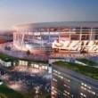 Una proiezione del nuovo stadio della Roma