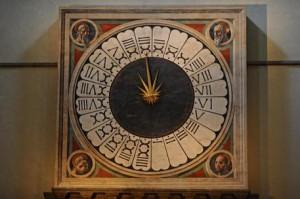 L'orologio di Paolo Uccello a Firenze (foto Ansa)