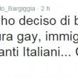 Il tweet di Paolo Bargiggia