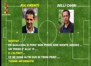 """Una delle telefonate intercettate tra Nino Pulvirenti e il """"suo"""" ds Daniele Delli Carri"""
