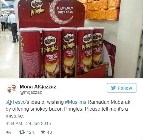 Pringles al bacon in offerta per Ramadan. Ma i musulmani non mangiano maiale...