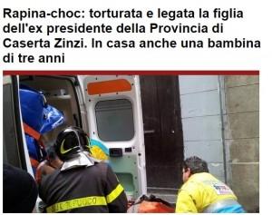 Caserta, Maddalena Zinzi picchiata e rapinata in casa: figlia ex presidente Provincia